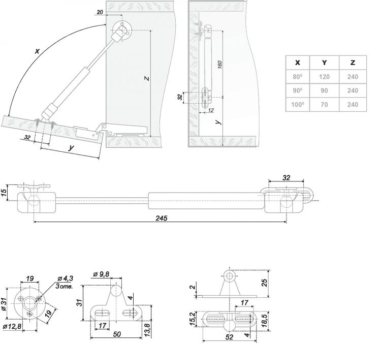 Установка газлифтов своими руками 63